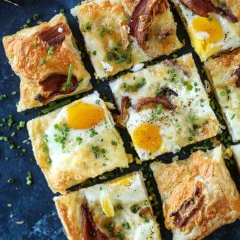 Breakfast Pizza - Puff Pastry Breakfast Pizza Recipe #recipeforpuffpastry