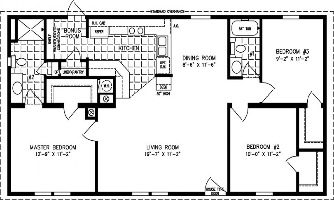 1000 Square Foot Home Plans 1000 Sq Ft Home Kit 1000 Sq Ft Home Floor Plans House Pl Small House Floor Plans Manufactured Homes Floor Plans 1000 Sq Ft House