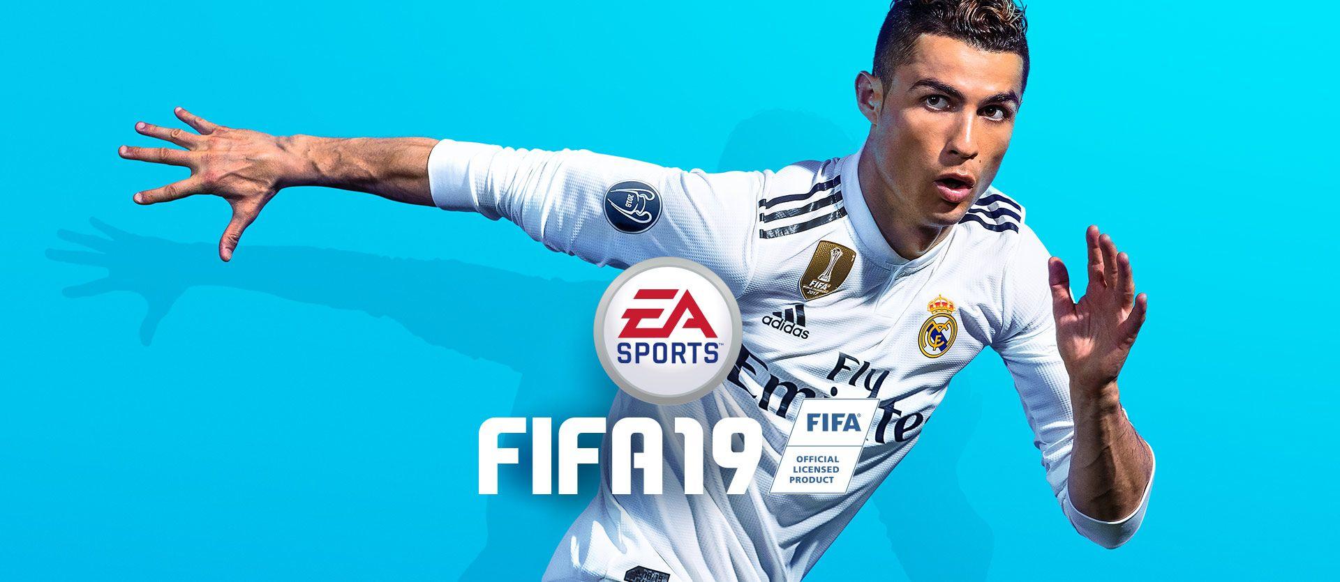 EA Sports FIFA 19، Cristiano Ronaldo running Ps4 games