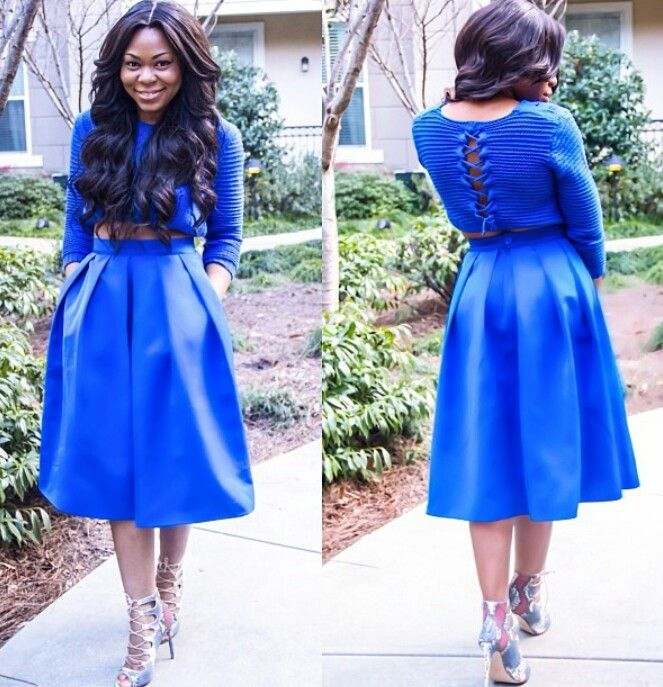 #bluedress #dresses #chic #fantasyaccessorybox.com