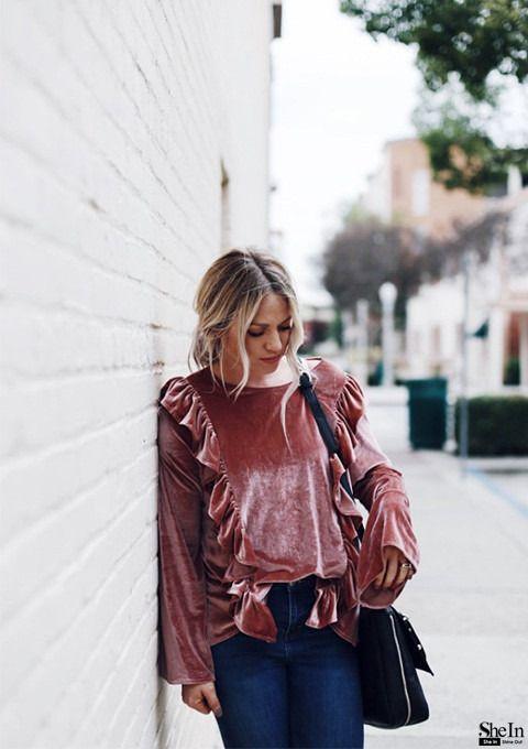 velvet blouse - Galleria di Stile & Libretto di look di SheIn it