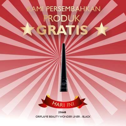Oriflame Beauty Wonderliner Black. Eyeliner cair dengan warna hitam yang lebih pekat, cocok untuk kamu yang senang berkreasi dengan riasan mata. Hari ini gratis lhoo ;))