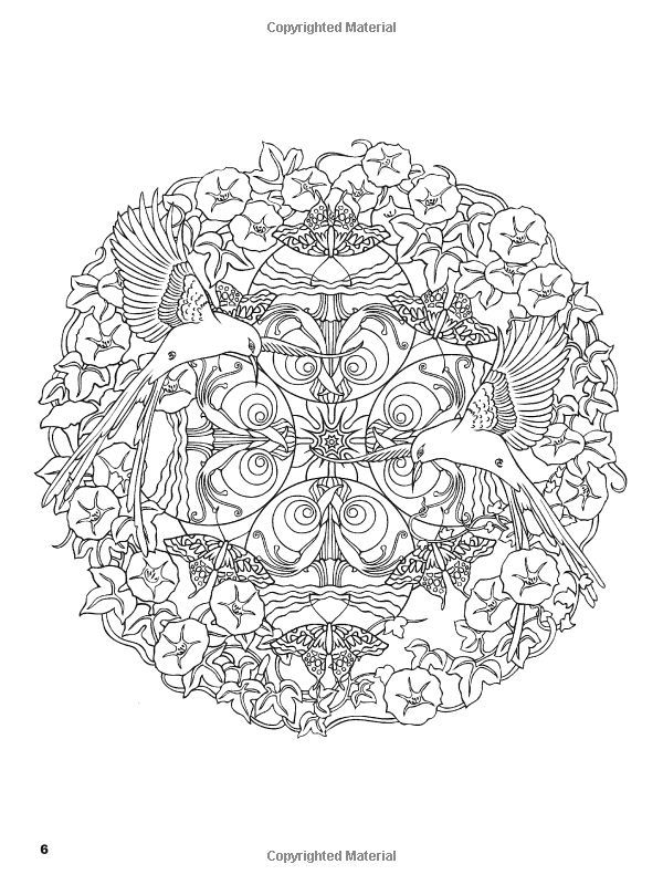 Dover Mystical Mandalas Coloring Books Amazoncom Nature Mandalas