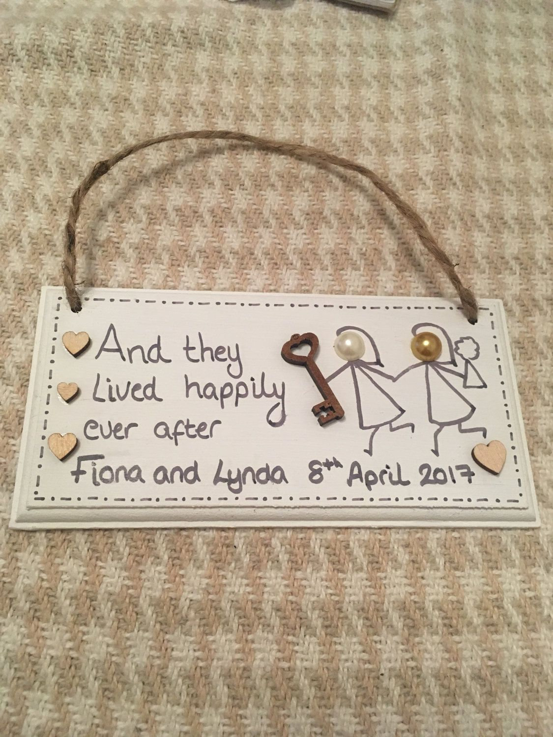 Personalised Wedding Plaque An Civil Partnership By Maceysmemories On Etsy