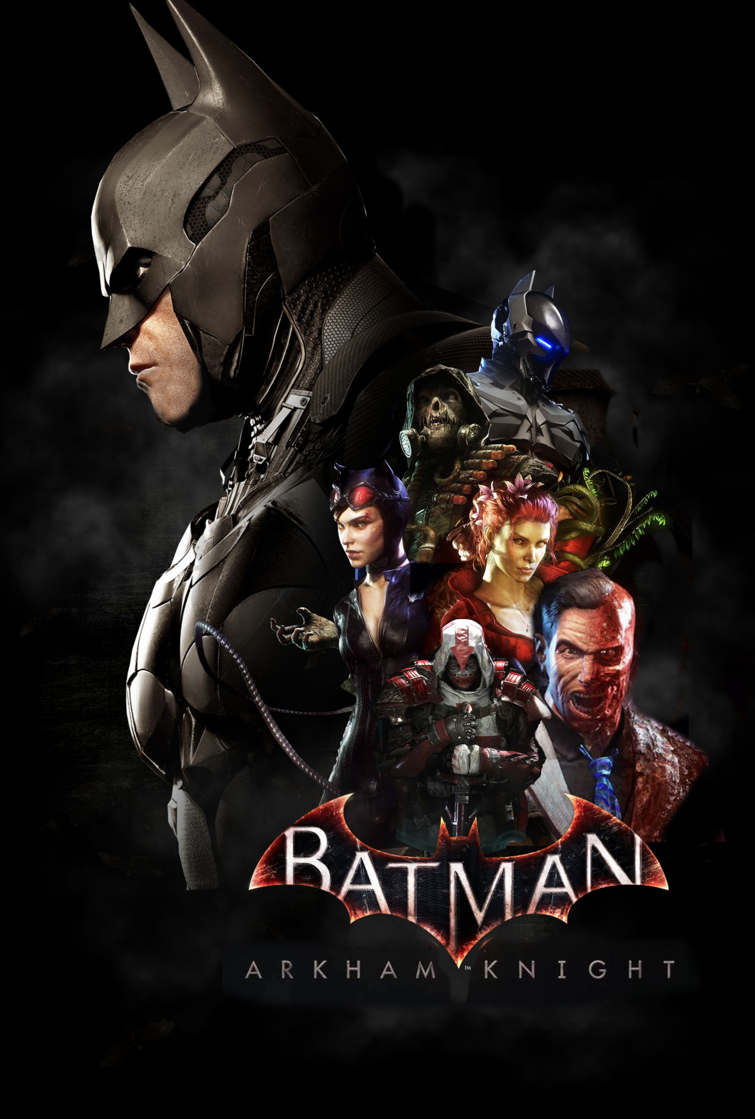 Arkham Knight Poster Fan Made Inspired By Mgsv Batman Arkham Knight Characters Batman Pictures Arkham Knight