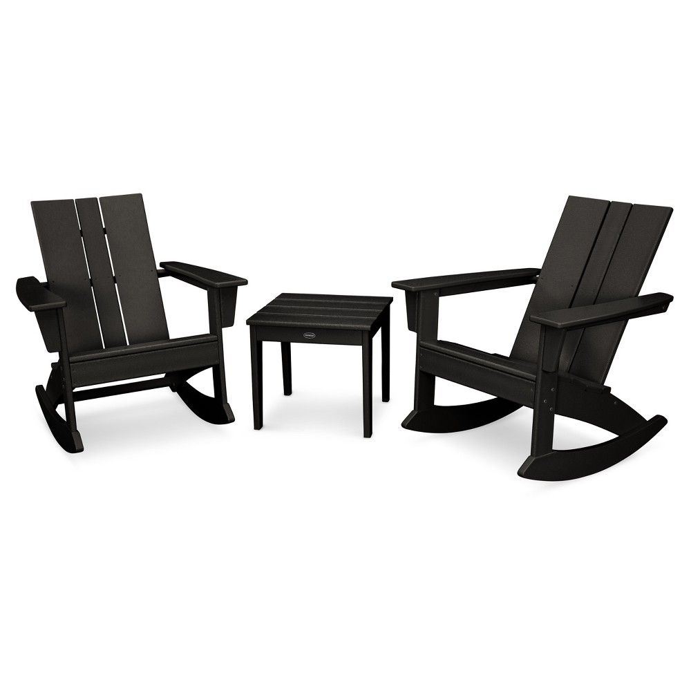 Admirable St Croix 3Pc Adirondack Rocking Chair Set Black Pdpeps Interior Chair Design Pdpepsorg