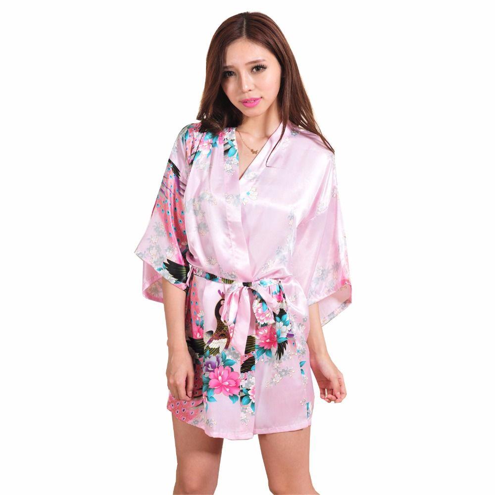 Sexy Mini hồng Trung Quốc truyền thống phụ nữ áo choàng lụa Novelty ...