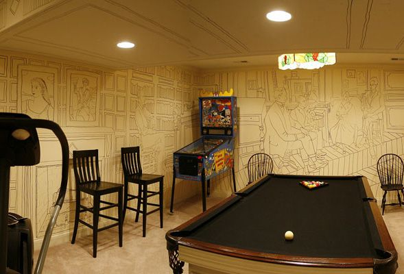 Amazingly cheap and original basement wall decor. Creative. & Amazingly cheap and original basement wall decor. Creative. | DIY ...