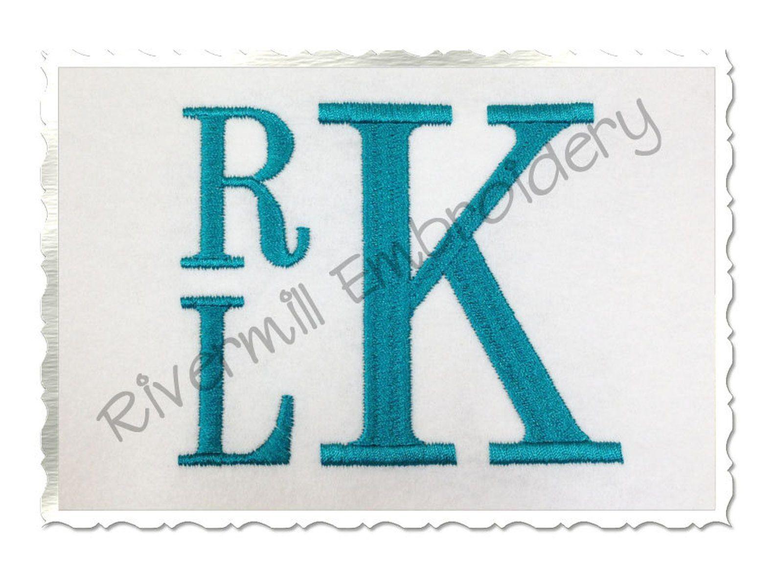 Boys Stacked Monogram Machine Embroidery Alphabet Font 3