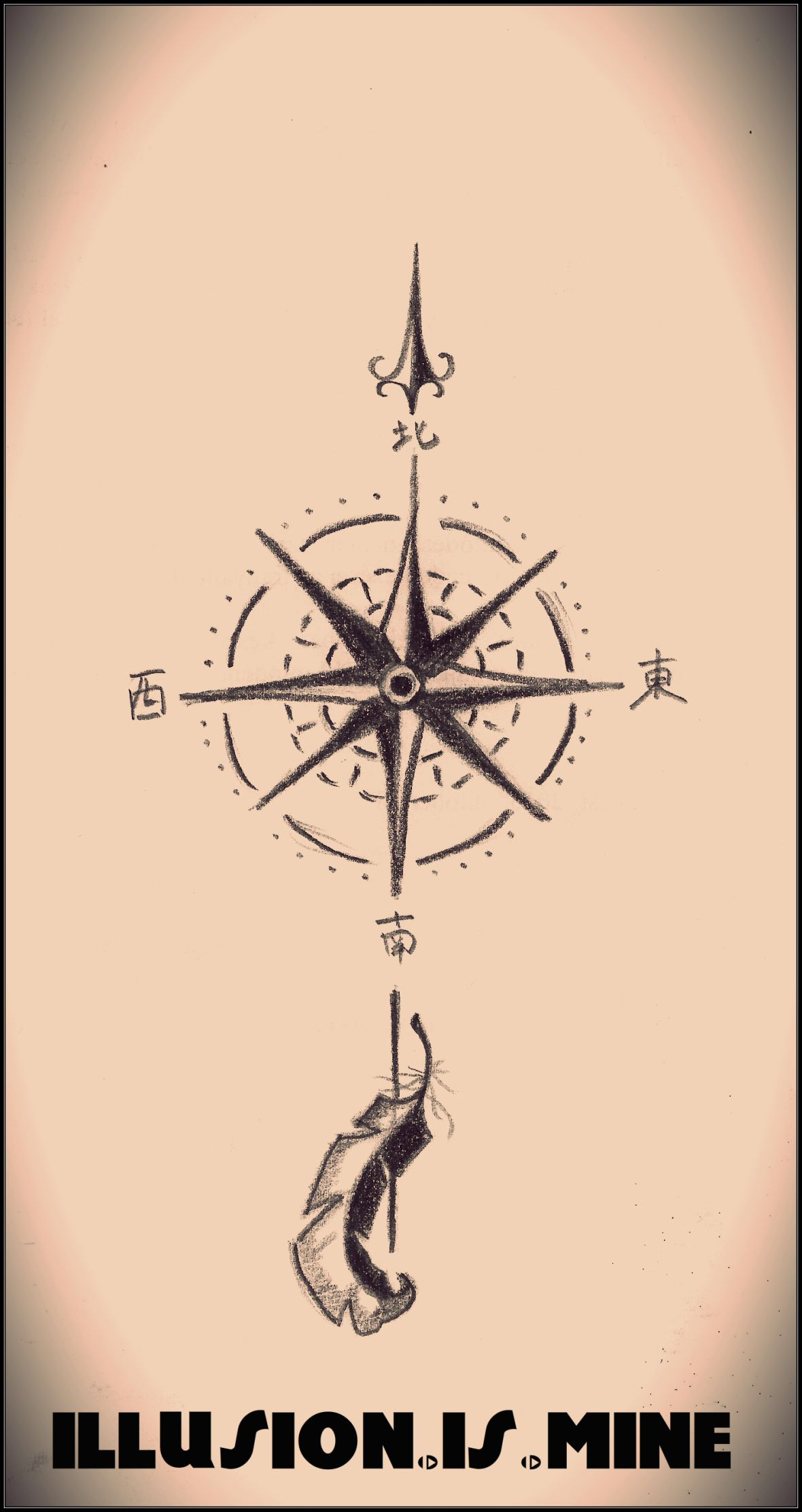 Compass rose tattoo design | Compass rose tattoo, Compass rose and ...