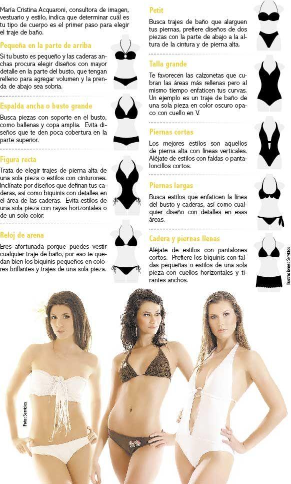 6ee7e104a Un poco mas de trajes de baño por figura | swimming | Trajes de baño ...