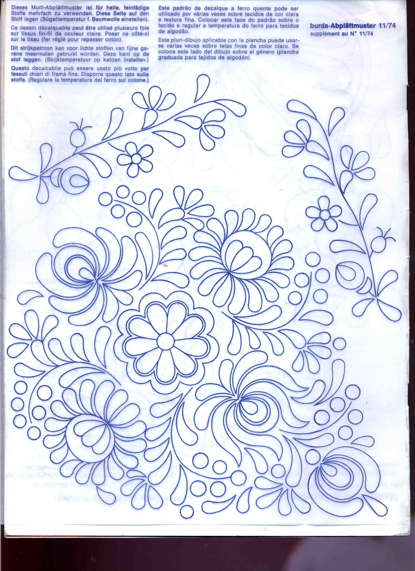 flowers | bordado | Pinterest | Patrones de bordado, Bordado y ...
