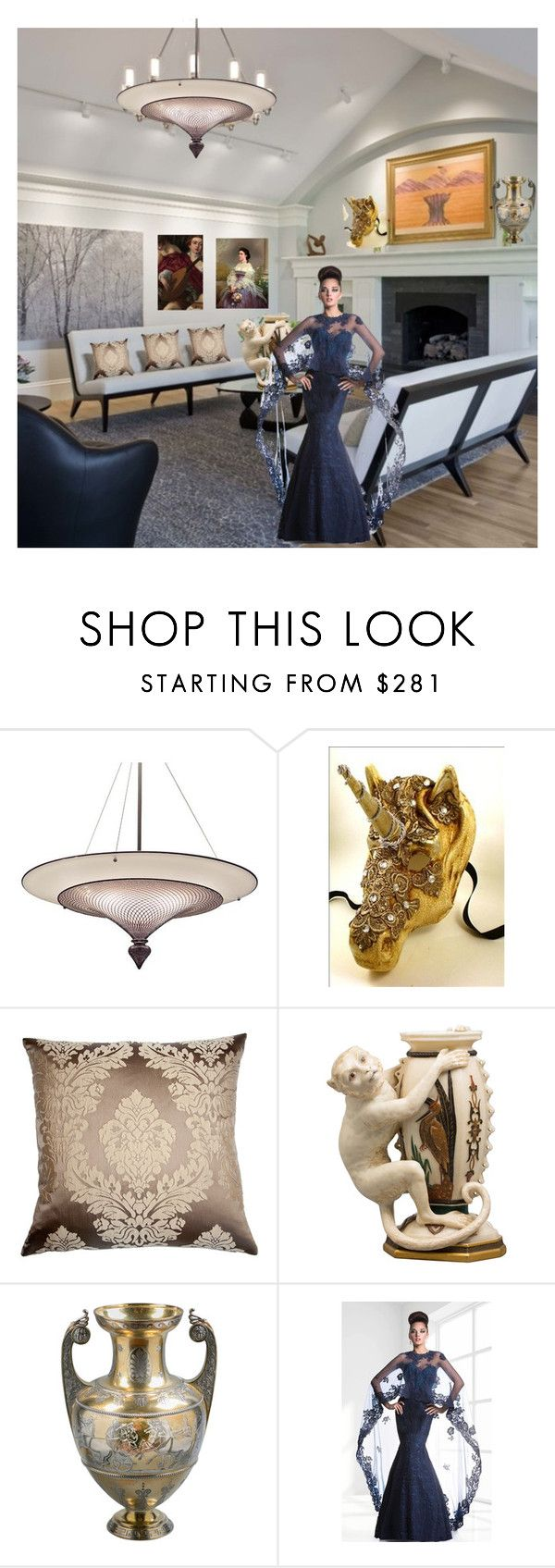 """Untitled #397"" by aifosbr ❤ liked on Polyvore featuring interior, interiors, interior design, home, home decor, interior decorating, Squarefeathers, Royal Worcester and Janique"