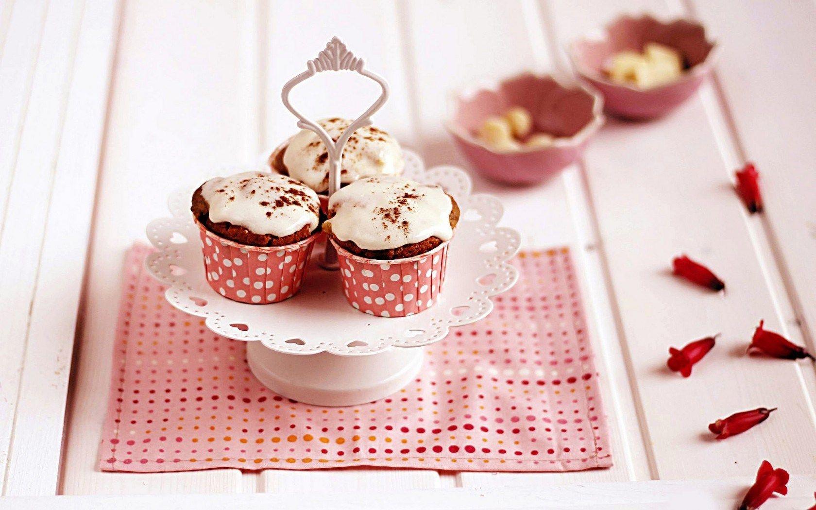 Cute Birthday Cupcake Wallpaper