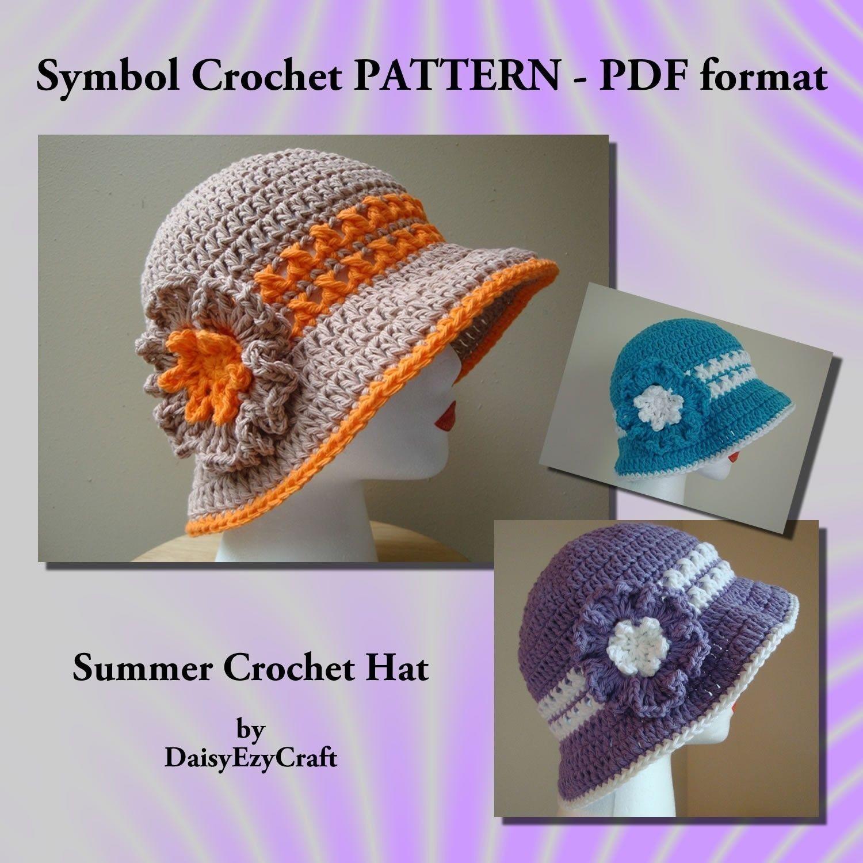Free Crochet Patterns To Print Crochet Free Pattern Hat Summer