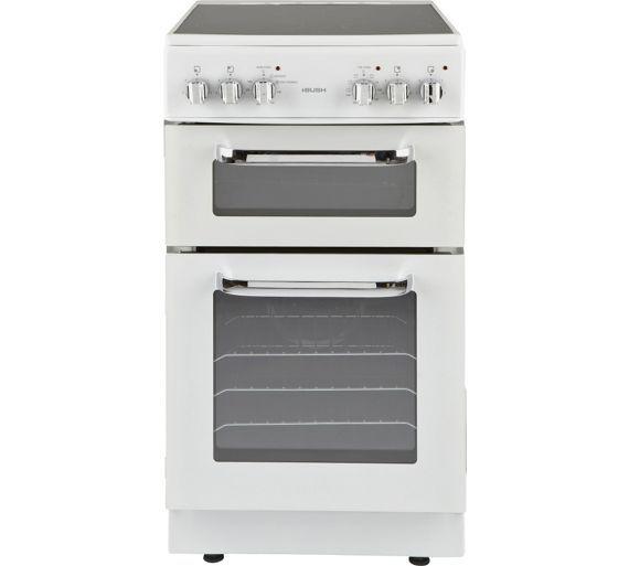 Buy Bush BFEDC50W Double Electric Cooker - White at Argos.co.uk ...