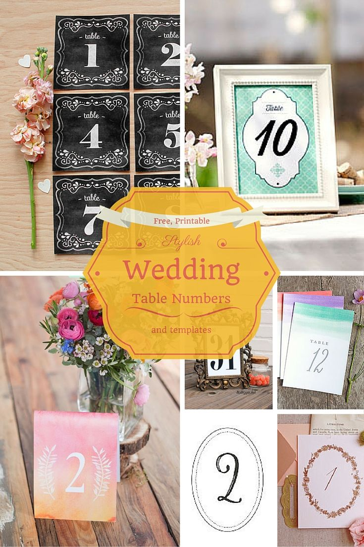 Free Printable Wedding Table Number Templates That Look Gorgeous
