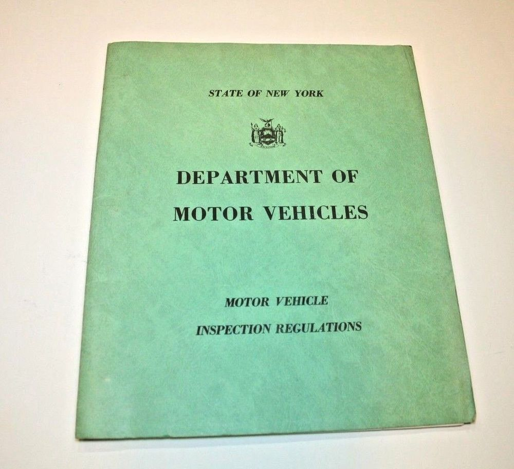 NYS DMV Car Regulations Auto Rule Book Department Motor Vehicles Booklet 1960s | Motor vehicle