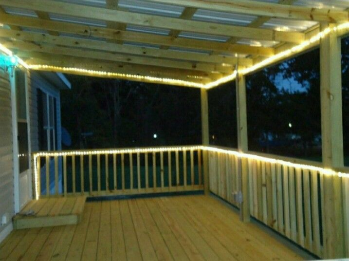 Covered Deck In 2019 Porch Lighting Covered Decks Deck