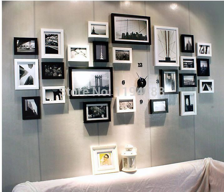 24 Pcs Set Modern Art Love Family Wall Decoration Wood Picture Photo