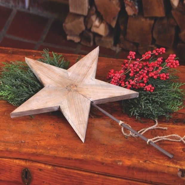 Wooden Star Tree Topper With Metal Post Diy Tree Topper Diy Christmas Tree Topper Christmas Decorations Rustic Diy