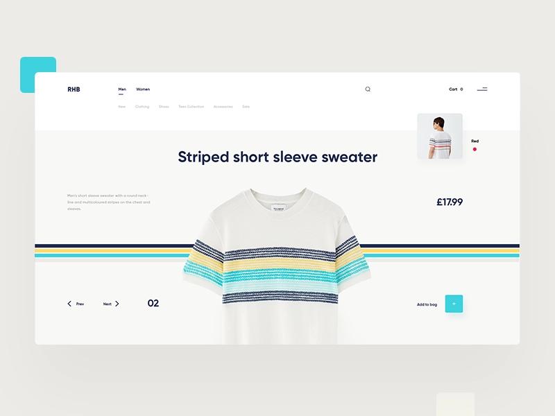 Rhb Web Design Inspiration Dribbble Ecommerce Themes