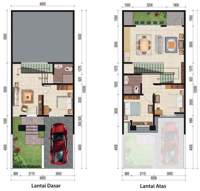 Tipe Serrisa Citragran Cibubur Craftsman Floor Plans Home Design Plans Small House Design