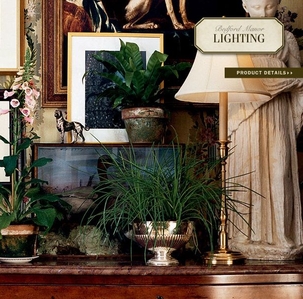 Ralph Lauren Home Bedford Manor Collection 8 Lighting Sideboard Lamp And Interior Plants Garden Style Decorating Ralph Lauren Home Traditional Decor