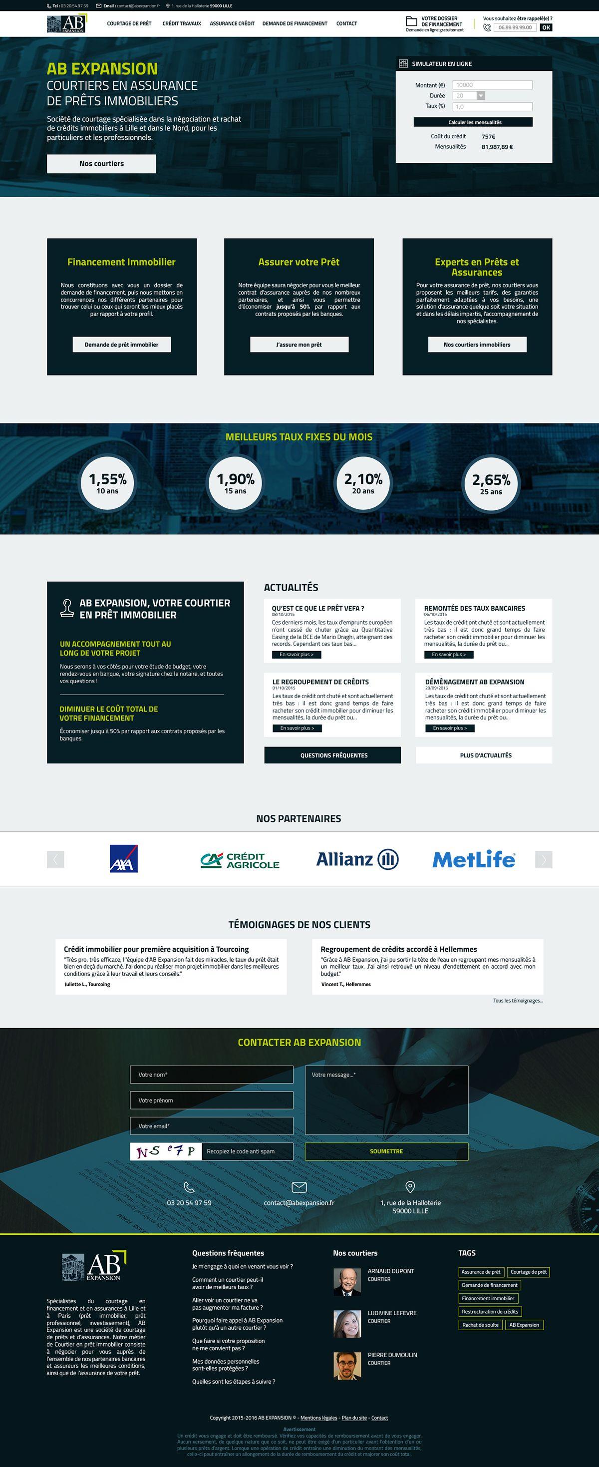 Réalisation d'un site internet pour une entreprise de courtage de prêt. ©ValentinoPuleo