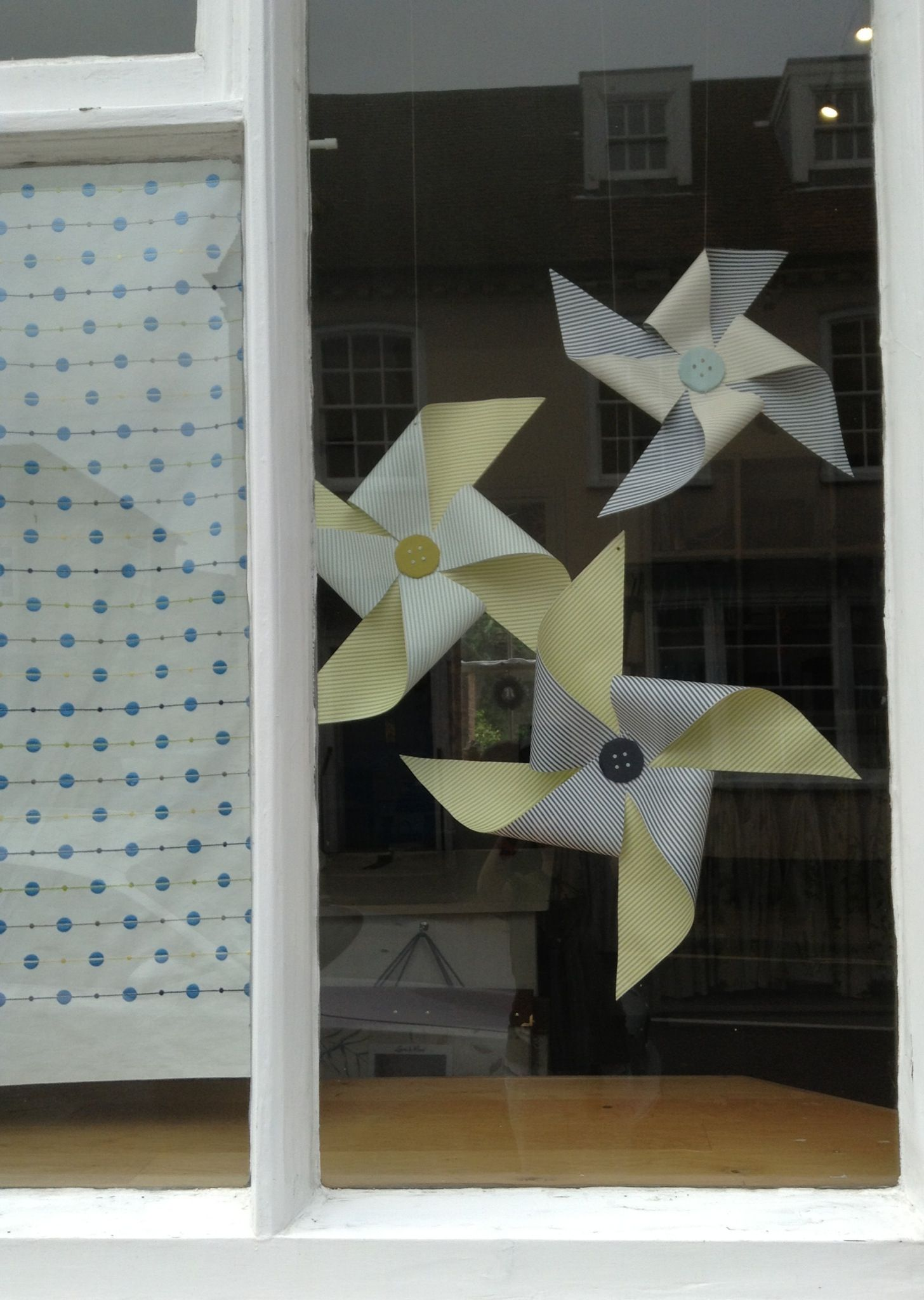 Fun Giant Wallpaper Windmills For Window Display At Sue Foster