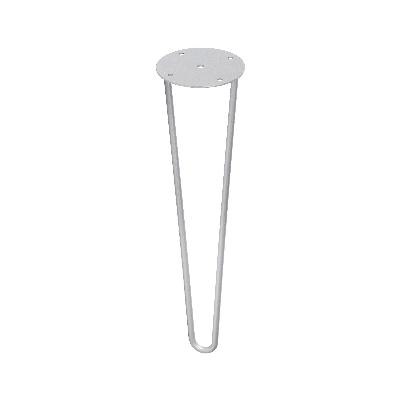 Pied De Table Basse Epingle Fixe A Visser Acier Epoxy Gris 40 Cm Rei Pied Table Basse Pieds De Table Et Table Basse