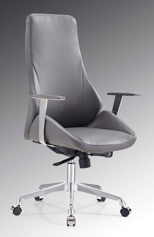 Vig Furniture  Modrest Chamber Modern Grey Office Chair  VGFU81581GRY is part of Black Office furniture - 48 Armrest Height 27   30 Seat Depth 18 Seat Height 18   21 Base Diameter 26