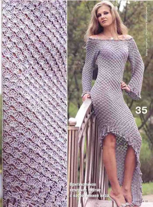 Vestido Maxi Tejido Patron | Crochet Dresses | Pinterest | Patrones ...