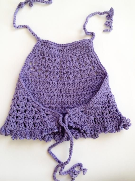 Crochet baby top Set of three tops Purple lace crop top Rose halter top White open back baby top Shower gift Beach vacation baby clothing