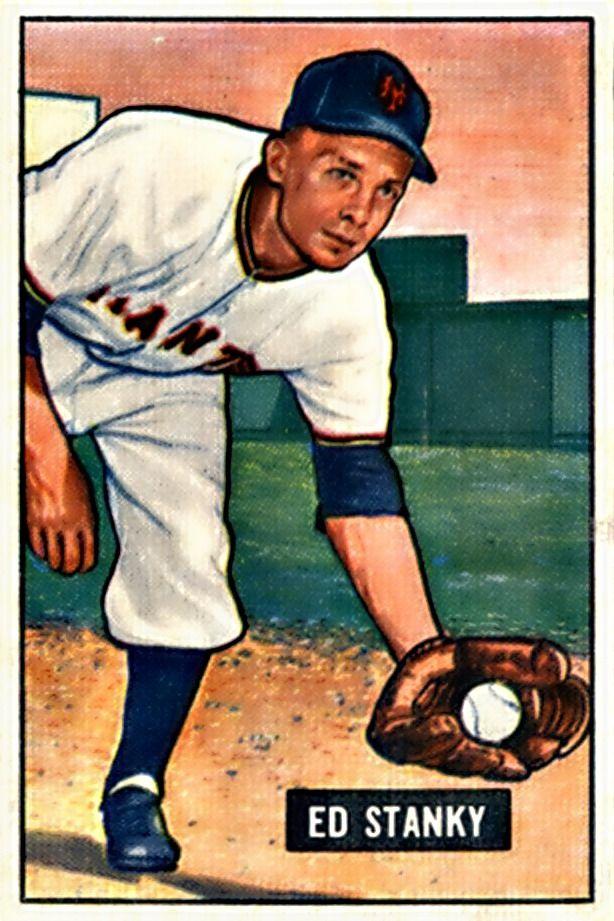 13 Eddie Stanky New York Giants B Bowman Baseball 1951