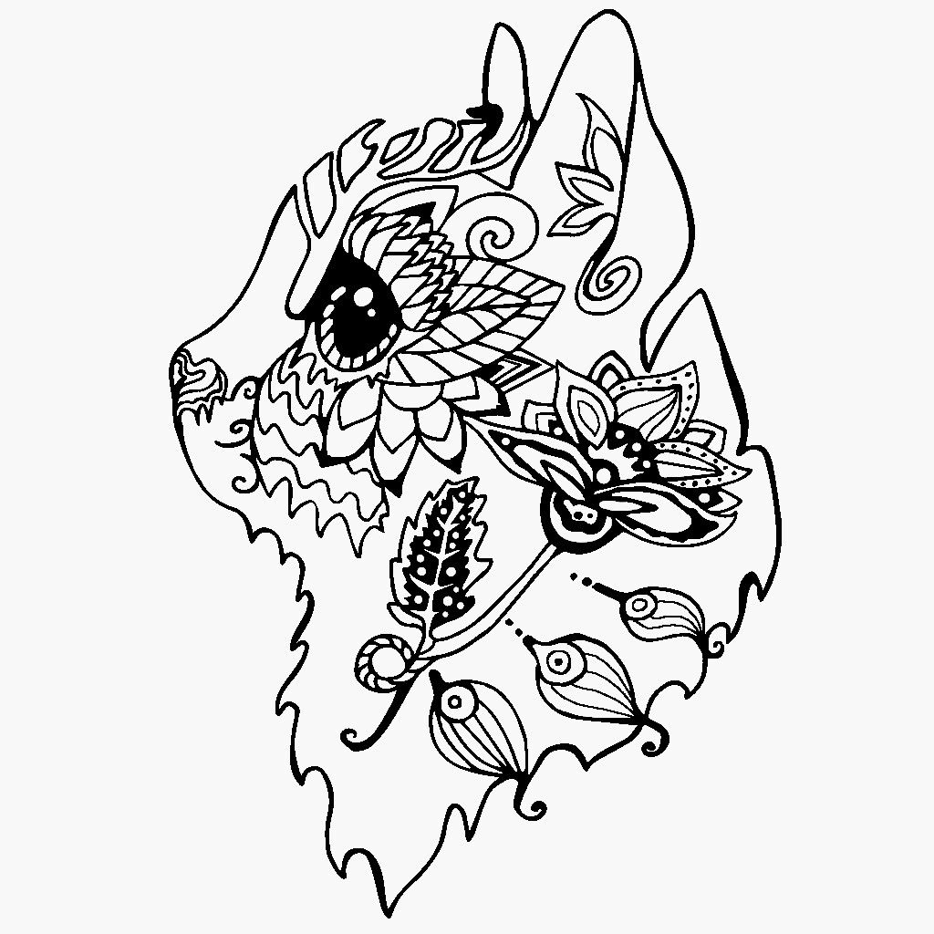 Before I Coulerd It In Animal Tattoo Dog Images Animals [ 1024 x 1024 Pixel ]
