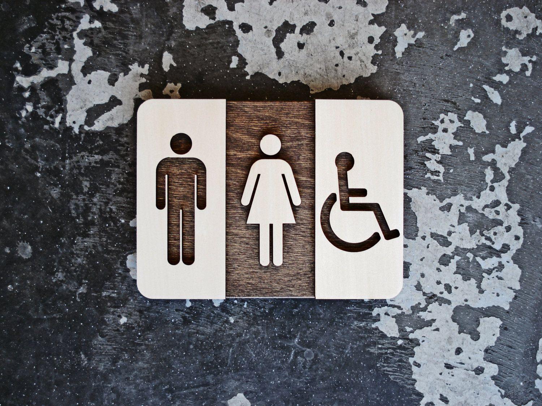 Bathroom logos ideas - Unisex Restroom Sign Unique Bathroom Decor Modern Interior Design X Restroom Signs