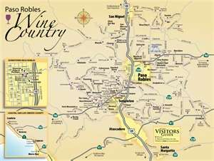Paso Robles Wine Region Wine Region Map Wine Tasting Tours Paso Robles Wineries