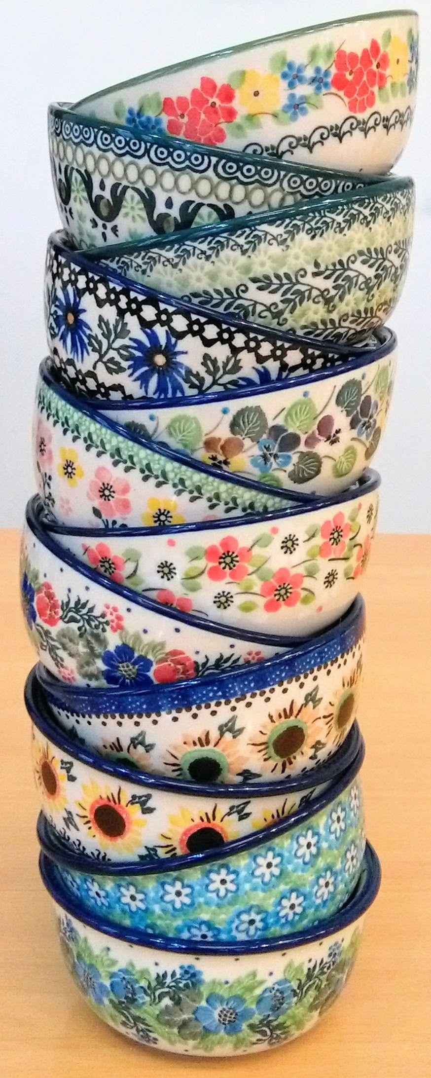 Eleven Beautiful Bowls Made By Ceramika Artystyczna Boleslawiec