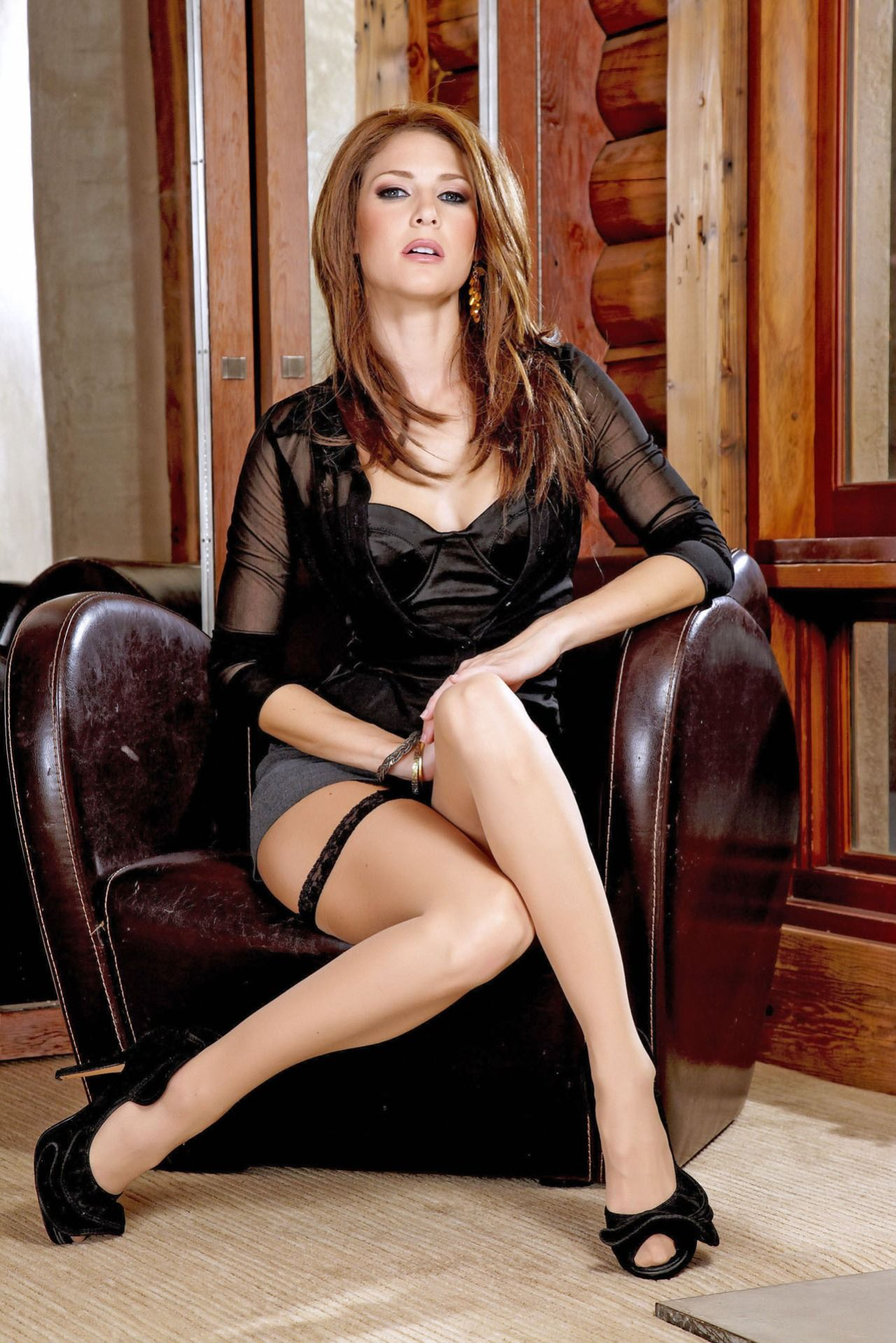 Beautiful women wearing stockings