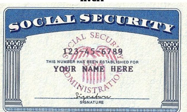 blank social security card template download certificate