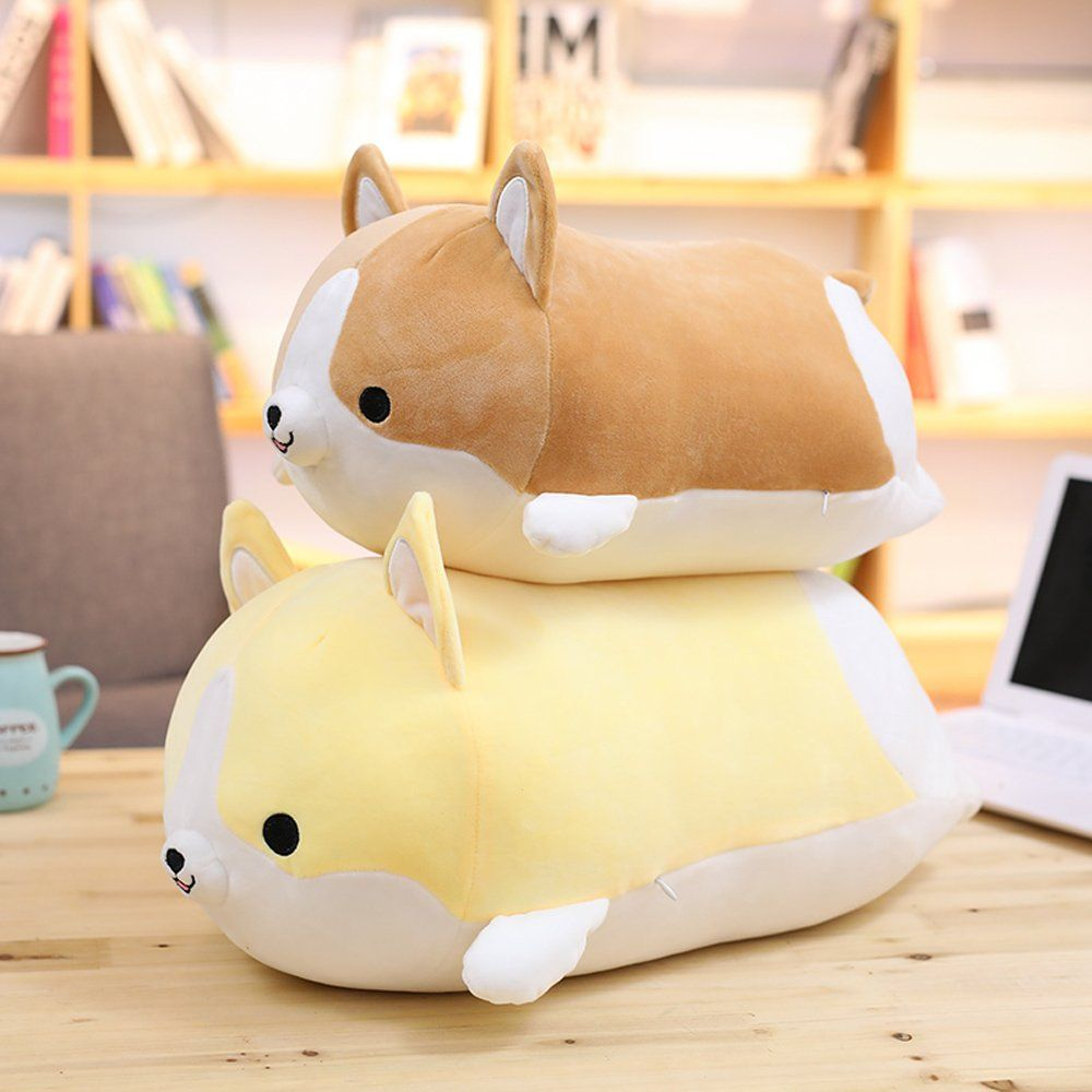 Levenkeness Corgi Dog Plush Pillow Soft Cute Shiba Inu Akita Stuffed Animals Toy Gifts Yellow 17 7 In Learn More Corgi Plush Corgi Dog Corgi Stuffed Animal