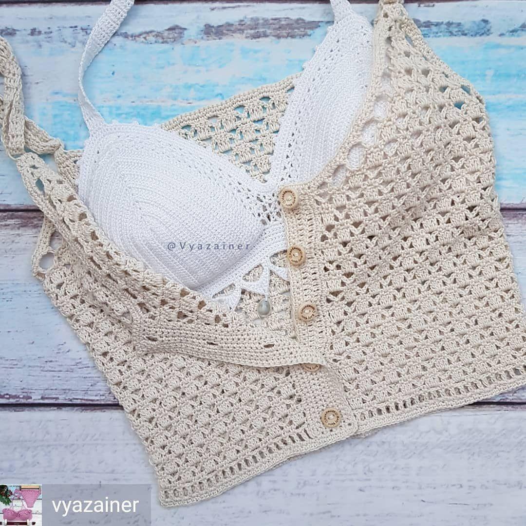 "Photo of crochelinhasagulhas auf Instagram: ""@vyazainer"" – ropa – #Bolero #Knitting #Bo …"