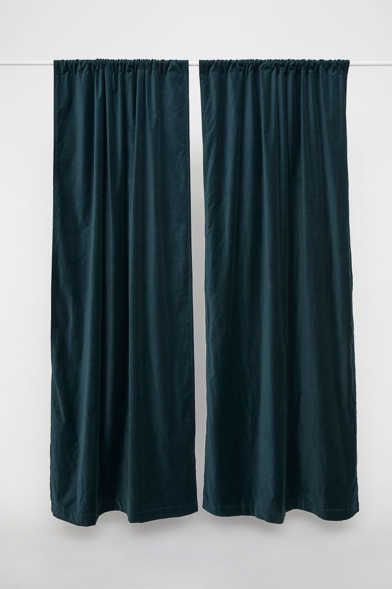 2 Pack Velvet Curtain Panels Velvet Curtains Classic Curtains