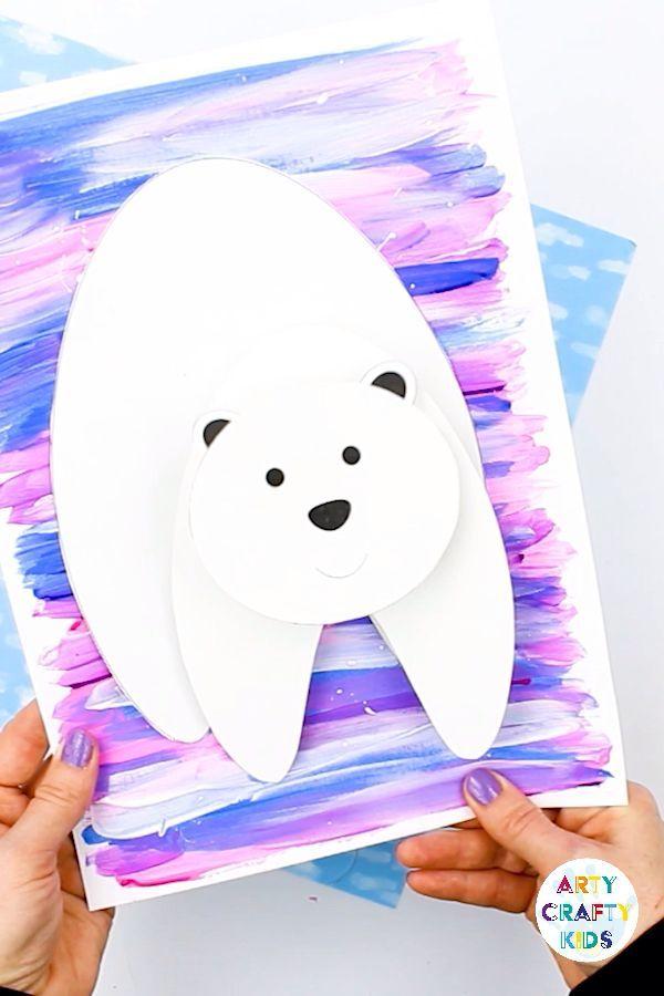 3D Polar Bear Winter Craft