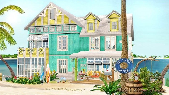 sea retreat awesome beach houseruby red - sims 3 downloads cc