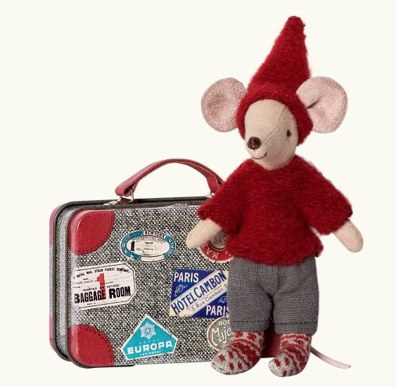 Maileg Travel Pixy Mouse in Suitcase