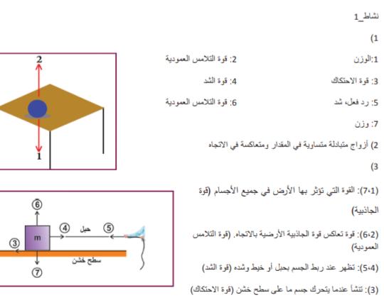 تم الإجابة عليه حل نشاط 1 القوة والحركة فيزيا اول ثانوي علمي Chart Line Chart Diagram