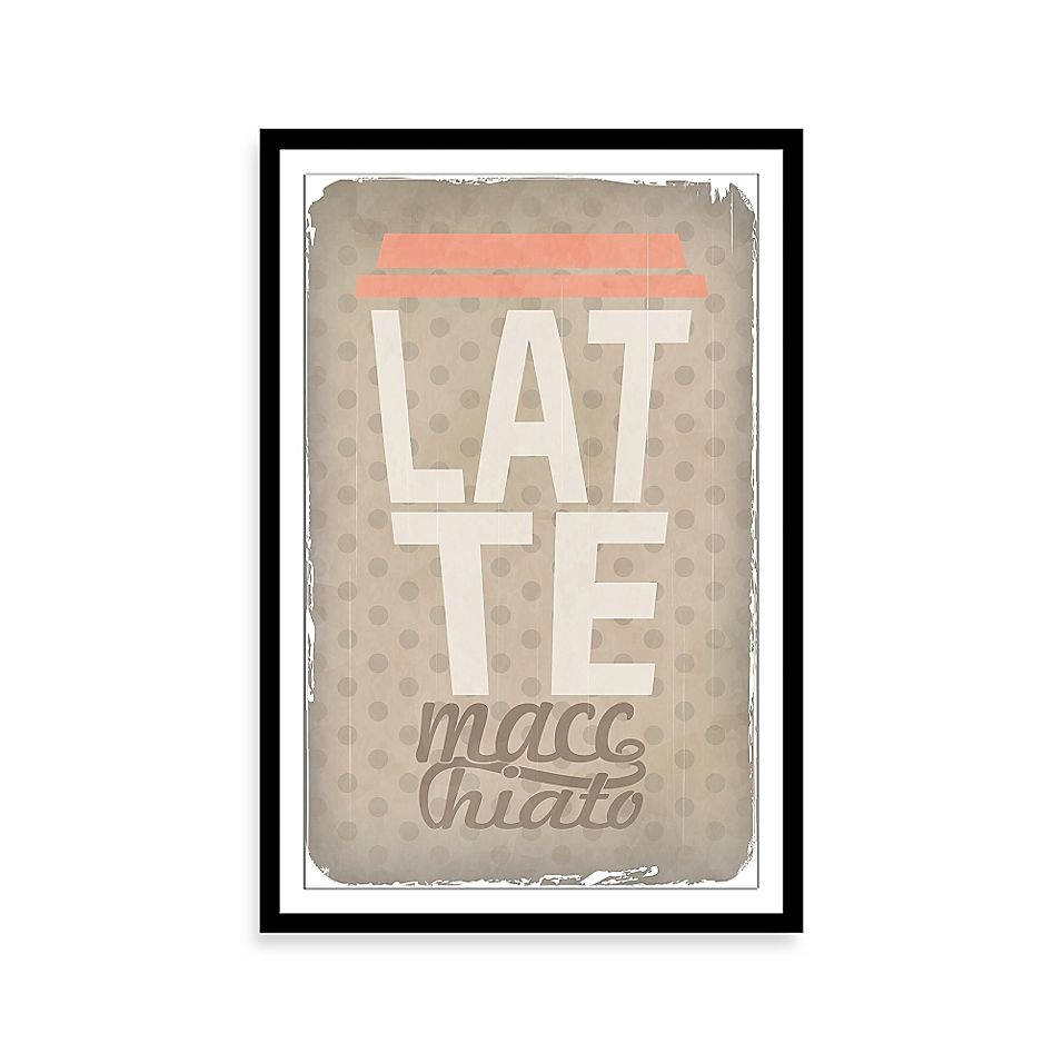 Latte Macchiato Framed Wall Art Multi #lattemacchiato