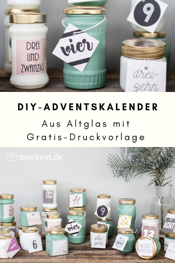 Upcycling-DIY-Idee: Adventskalender aus Altglas selbermachen